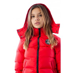 Black Bananas kids JR F.C. bubble coat winterjas in de kleur rood
