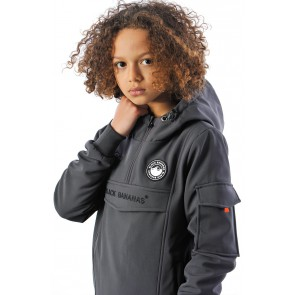 Black Bananas kids JR F.C anorak jacket winterjas in de kleur antraciet grijs