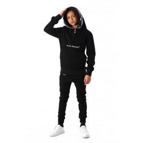 Black Bananas kids JR incognito hoody sweater trui in de kleur zwart