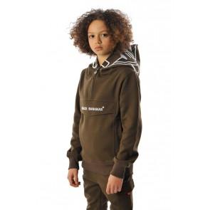 Black Bananas kids JR incognito hoody sweater trui in de kleur moss green groen
