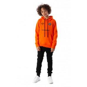 Black Bananas kids JR F.C. hoody tech sweater trui in de kleur oranje