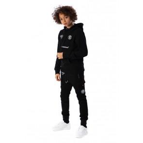 Black Bananas kids JR FC hoody tech sweater trui in de kleur zwart