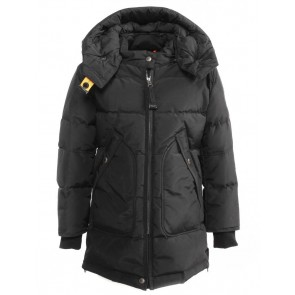 Parajumpers kids long bear base girl winterjas parka in de kleur zwart