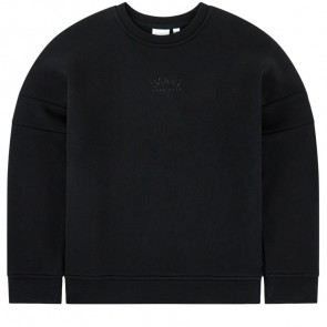Hugo Boss kids sweater trui met logo print in de kleur zwart