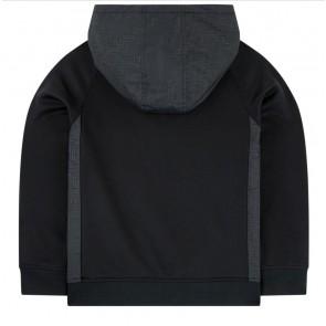 Hugo Boss kids boys hoodie zipper sweater trui in de kleur zwart
