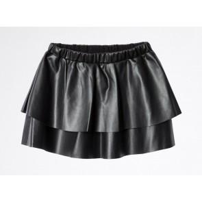 Zadig en Voltaire girls imitatie leer rok in de kleur zwart