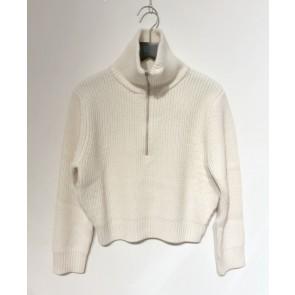Zadig en Voltaire girls gebreide trui met rugprint in de kleur off white