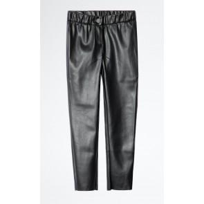 Zadig en Voltaire girls imitaie leer skinny broek in de kleur zwart