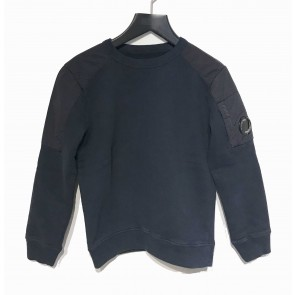 CP Company undersixteen kids sweater trui parachutestof en lens in de kleur donkerblauw