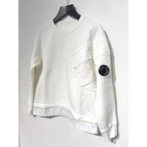 CP Company undersixteen kids sweater trui parachutestof en lens in de kleur off white