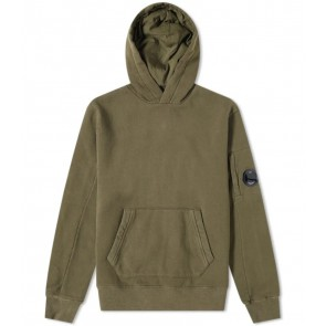 CP Company undersixteen kids hoodie sweater trui met lens in de kleur army green