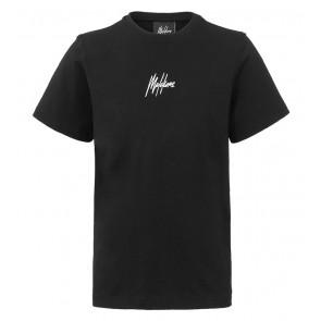 Malelions kids junior t-shirt logo print in de kleur zwart