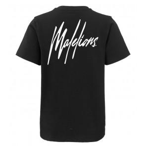 Malelions kids junior t-shirt logo print in de kleur donkerblauw