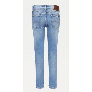 Tommy Hilfiger kids boys Simon skinny fit jeans broek stretch in de kleur jeansblauw