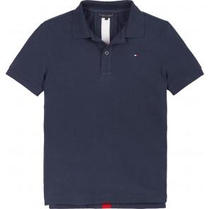 Tommy Hilfiger kids boys back insert polo shirt twilight in de kleur navy donkerblauw