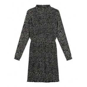 Circle of trust girls Emma dress tear drops plisée jurk in de kleur zwart/off white