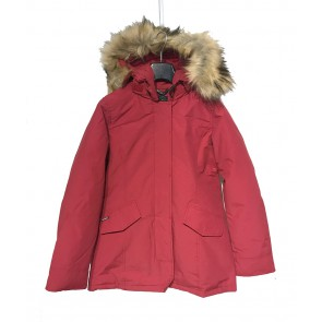 Airforce kids girls winterjas 2 pocket parka met bontkraag in de kleur rood