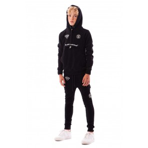Black Bananas kids JR Anorak hoody sweater trui in de kleur zwart