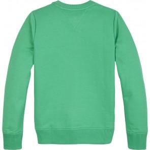 Tommy Hilfiger kids boys essential sweatshirt met logo print in de kleur groen