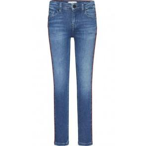 Tommy Hilfiger kids girls Nora super skinny jeans broek in de kleur jeansblauw