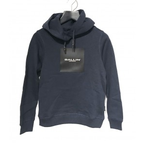 Ballin Amsterdam kids hoodie sweater trui met logo print in de kleur donkerblauw