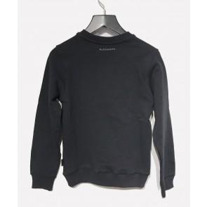 Ballin Amsterdam kids sweater trui met badstof logo print in de kleur zwart