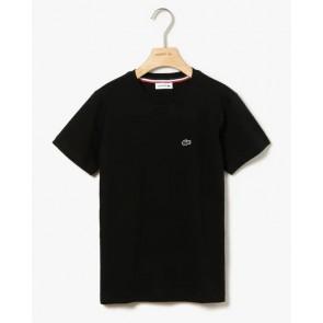 Lacoste kids t-shirt met mini krokodil logo in de kleur zwart
