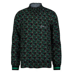 Retour jeans girls Ineke blouse met hoge boord in de kleur groen/zwart