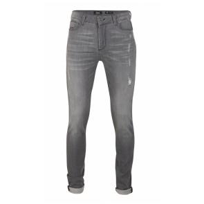 Rellix kids jeans broek dean tape red in de kleur dark grey