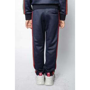 Zadig en Voltaire sweatpants broek met glitter bies in de kleur donkerblauw
