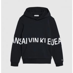 Calvin Klein kids boys stretch logo hoodie sweater trui in de kleur zwart