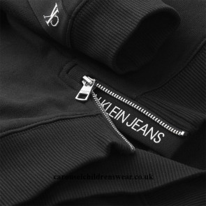 Calvin Klein kids girls sweater trui monogram tape sweatshirt in de kleur zwart