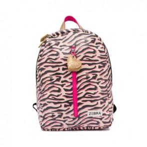 Zebra trend rugzak boys M Zebra stripes in de kleur pink/roze