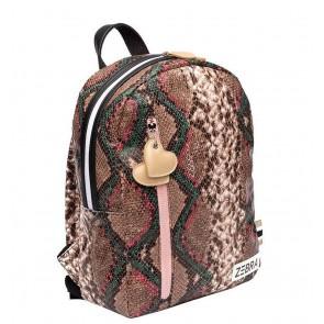 Zebra trends girls rugzak M wild snake in de kleur snake pink