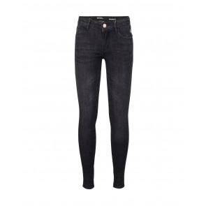 Indian blue jeans kids girls black jill flex skinny fit in de kleur black denim zwart