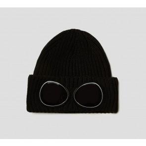 CP Company undersixteen goggle muts van wol in de kleur zwart