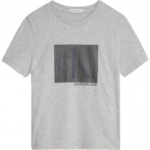 Calvin Klein kids boys monogram box t-shirt in de kleur grijs
