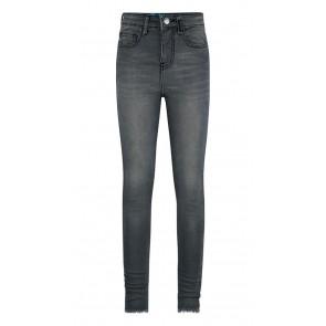 Retour jeans girls Brianna skinny jeans broek met rafels in de kleur antraciet grijs