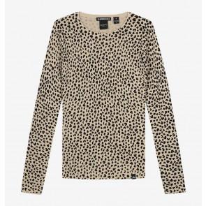 Nik en Nik kids girls longsleeve top jolie leopard in de kleur zwart/beige