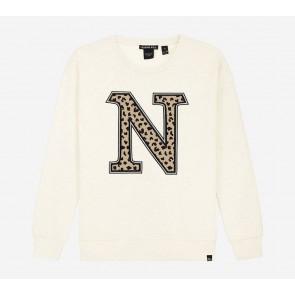 Nik en Nik kids girls Poloma sweater trui in de kleur off white
