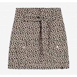 Nik en Nik kids girls rok vesper skirt met panterprint in de kleur zwart/beige