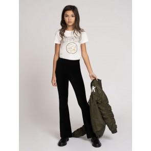 Nik en Nik girls poppy t-shirt in de kleur off white/goud
