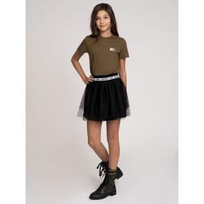 Nik en Nik kids girls tule rok Iris love skirt in de kleur zwart