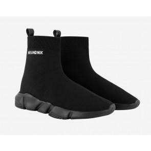 Nik en Nik kids sokschoen Jake sneaker in de kleur zwart