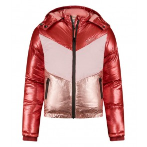 Retour girls winterjas Joy in de kleur rose/roze