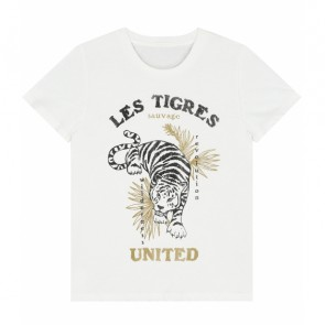 Circle of trust girls Suri t-shirt les tigres united in de kleur off white