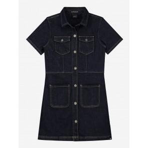 Nik en Nik girls Felena denim jeans dress jurk in een donkere wassing