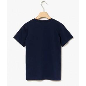 Lacoste kids boys t-shirt met ronde hals in de kleur zwart