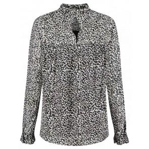 Circle of trust Girls Josie blouse met opstaande boord tear drops in de kleur zwart