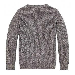 Tommy Hilfiger kids boys gebreide flag logo sweater trui in de kleur grijs